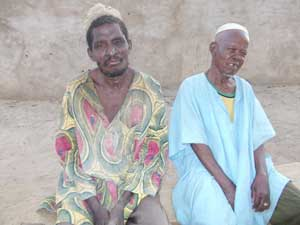 Amadou Tanko and Nouhou Ibrahim are begging for food in Danja