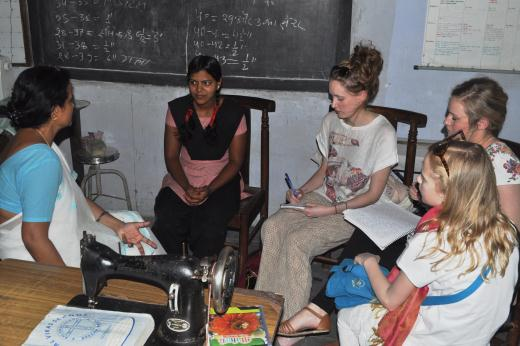 Hana, along with the CALL for Change competition winners, visits Faizabad VTC.