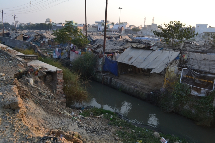 Outside of Indranagrar slum