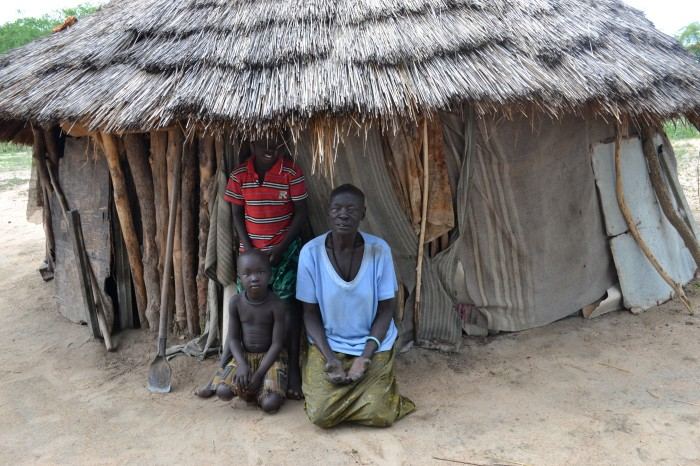 Residents of the leprosy community in Malek, before conflict devastated the village
