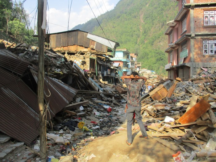Destruction caused by the earthquake in Dolakha district, which was near the epicentre of the second major quake on 12 May.