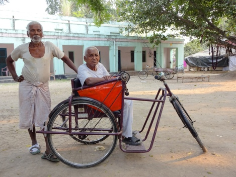 Tanik, leader of the leprosy colony, with fellow resident Rama Shanker.