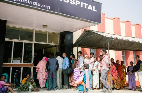 Queuing at the outpatients' department (OPD).