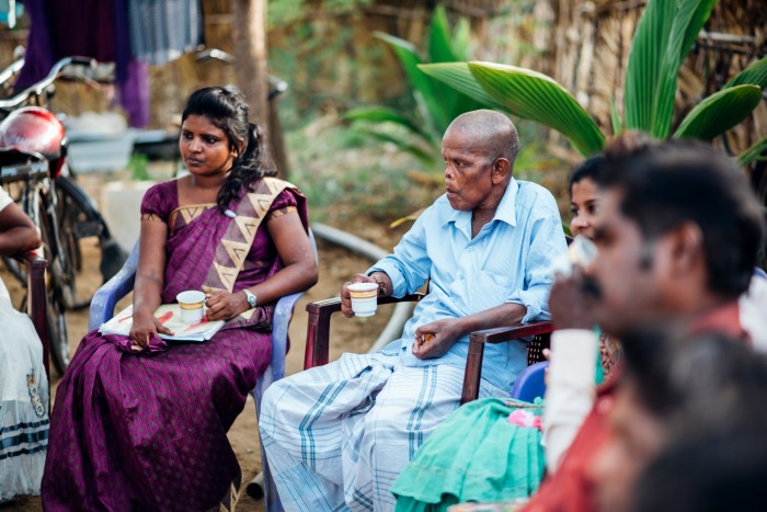 Kanagarasa at a meeting of the Leprosy People's Forum for Change